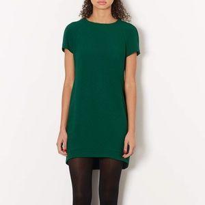 TOPSHOP Women's Green Crepe Tee Shift Dress